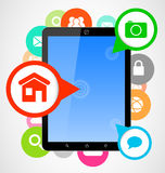 Computer tablet applications Royalty Free Stock Photos