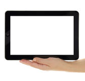 Computer tablet with blank screen isolated Royalty Free Stock Photos