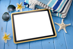 Tablet Computer Travel Online Agent Stock Image
