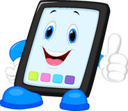 Computer tablet cartoon giving thumb up. Illustration of Computer tablet cartoon giving thumb up vector illustration