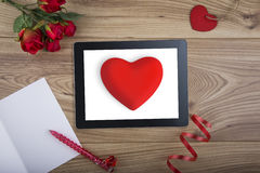 Computer Tablet for Internet Dating Royalty Free Stock Image