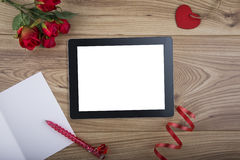 Computer Tablet for Internet Dating Royalty Free Stock Photography