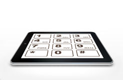 Сomputer tablet isolated Royalty Free Stock Photography
