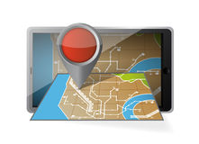 Computer tablet navigation. mobile gps Stock Photo