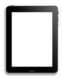 Computer tablet or pad. Illustration of modern computer tablet or pad with copy space; white background Royalty Free Stock Photo