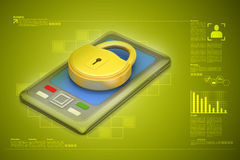 Computer tablet with padlock Royalty Free Stock Photos
