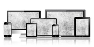 Computer, tablet pc, mobile phone and notebook Royalty Free Stock Images