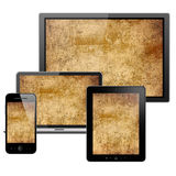 Computer, tablet pc, mobile phone and notebook Royalty Free Stock Image