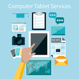 Computer tablet services Royalty Free Stock Photo