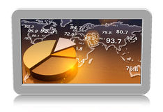 Computer tablet showing charts Stock Images
