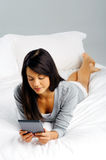 Computer tablet woman Stock Photos