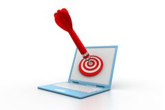 Computer  target Royalty Free Stock Photography