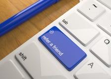 Computer-Tastatur auf hölzerner Tabelle 3d übertragen stock abbildung