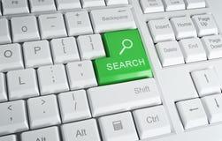 Computer-Tastatur mit ?Recherche? Text Lizenzfreies Stockfoto