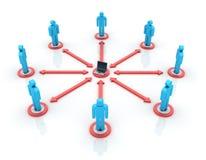 Computer Teamwork stock illustration