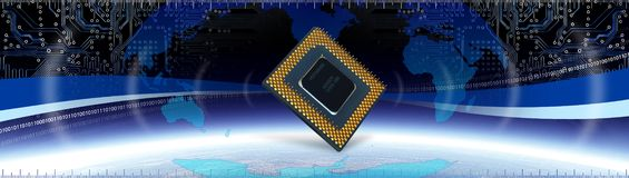 Computer Tech Banner Royalty Free Stock Image