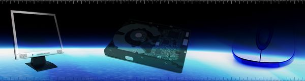 Computer Tech Banner Stock Photos