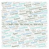 Computer Technical Service word cloud. Wordcloud made with text only stock photos