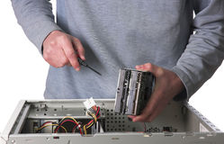 Computer technician Royalty Free Stock Photos