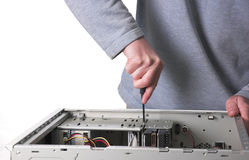 Computer technician Royalty Free Stock Image
