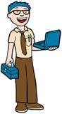 Computer Technician. Man ready to fix computers Stock Photos
