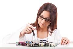 Computer technician Stock Photo