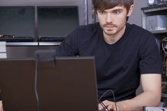 Computer technicians Royalty Free Stock Photos