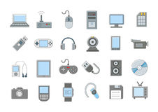 Computer technologies vector icons set Royalty Free Stock Photography