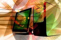 Computer technology abstract Stock Photo