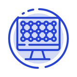 Computer, Technology, Hardware Blue Dotted Line Line Icon royalty free illustration