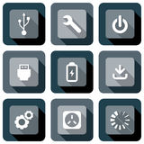 Computer Technology Icon design set Stock Photos