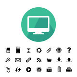 Computer and technology icon set Royalty Free Stock Images