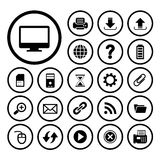 Computer and technology icon set Royalty Free Stock Photo