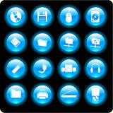 Computer technology icons Royalty Free Stock Images