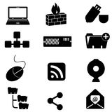 Computer and technology icons Royalty Free Stock Photo