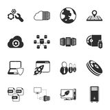 Computer, technology 16 icons universal set for web and mobile. Flat Stock Illustration