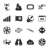 Computer, technology 16 icons universal set for web and mobile. Flat Vector Illustration