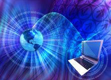 Computer technology mix Stock Images