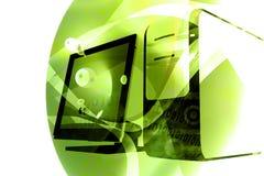 Computer technology mix - green Royalty Free Stock Photos