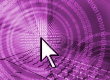 IT Computer technology - purple Stock Photography