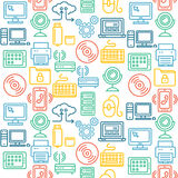 Computer Technology Seamless Pattern. Vector Stock Images