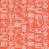 Computer Technology Seamless Pattern. Vector Stock Photos