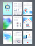 Computer Technology Templates. Vector flyer Royalty Free Stock Image