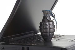 Computer terrorism Royalty Free Stock Photography