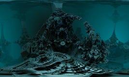 Computer teruggegeven virtueel landschap Stock Foto