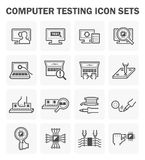 Computer test icon Stock Images
