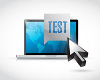 Computer test illustration design Stock Images