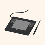 Computer theme graphics tablet elements vector Royalty Free Stock Photos