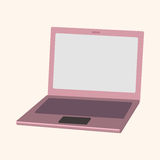 Computer theme laptop elements vector Stock Images
