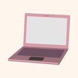 Computer theme laptop elements vector. Cartoon vector illustration Stock Images